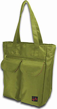 Ice Red Uni Cargo Laptop Tote Lime