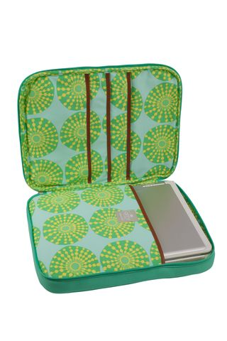 AB111 NOLA Laptop Wrap Teal - open