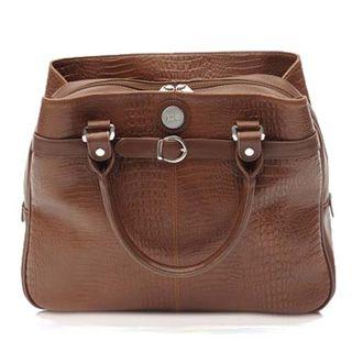 373601 Leather Careerbag Brown Croc