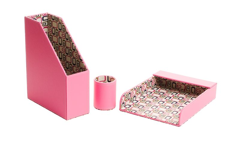 Desktop Accessories - Hot Pink