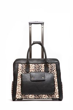Hang leopard trolley bag
