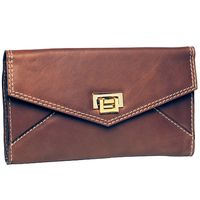 Envelope clutch chocolate